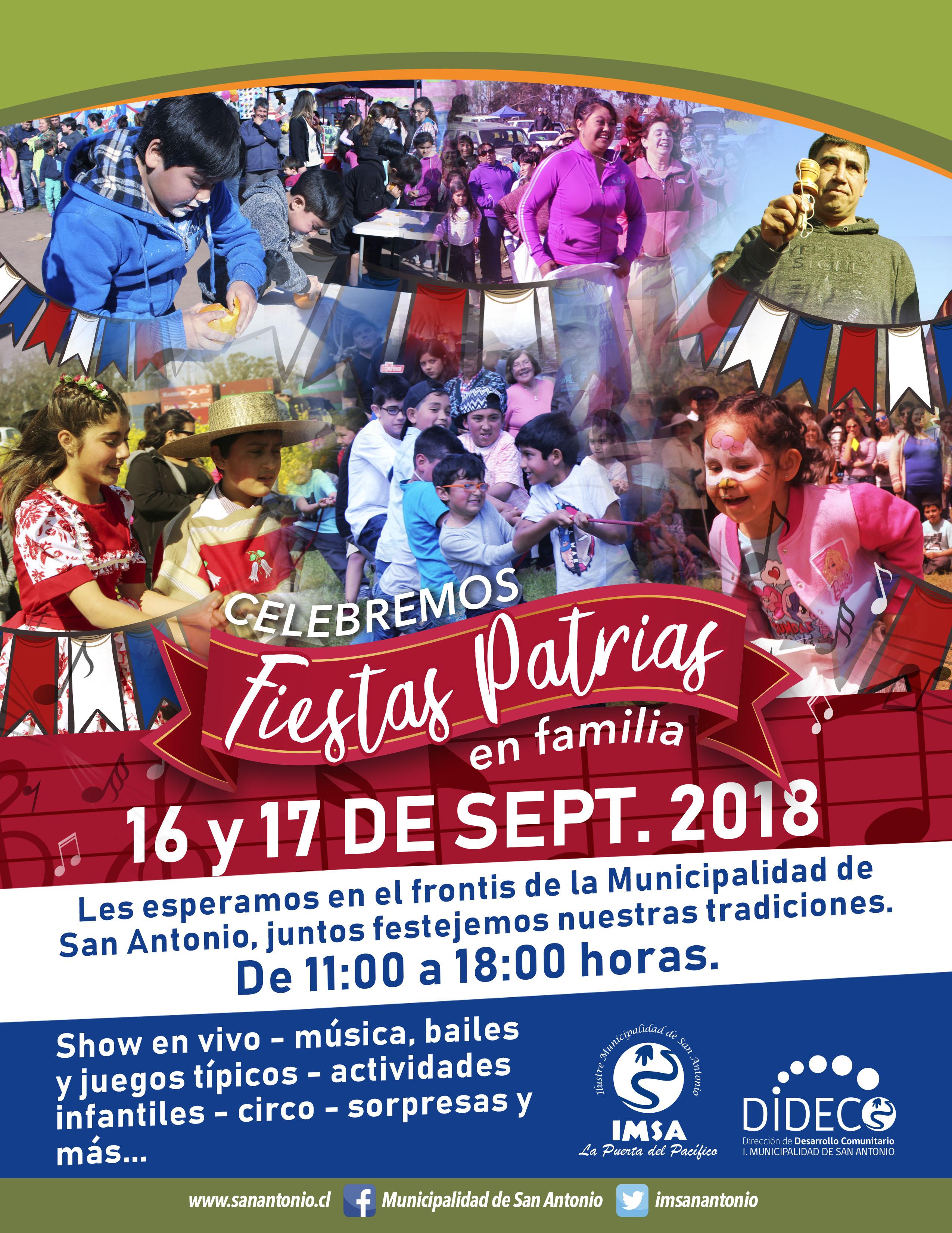 Municipio Invita A Celebrar Fiestas Patrias En Familia I