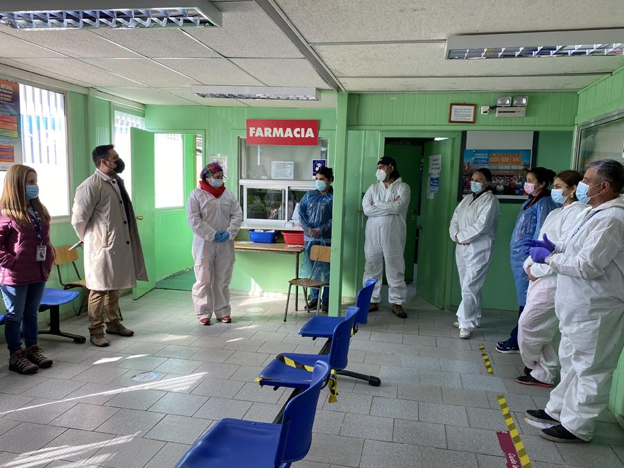 Director de Salud Municipal de San Antonio visitó el Cecosf de Cerro Alegre para evaluar sus instalaciones